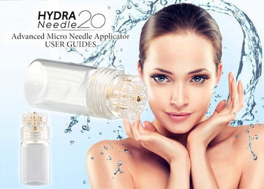 China Gold Titanium 24K Hydra Needles 20 Fine Touch System Aqua Micro Channel Mesotherapy supplier