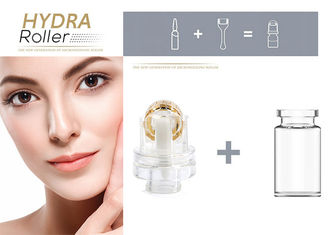China OEM Dr Derma Roller / Titanium Microneedle Hydra Roller 64 Gold Tips for Hyaluronic Acid supplier