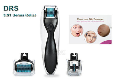 Detachable Derma Roller 3 in 1 with 1200 + 180 + 600 Needle / Skin Care Wrinkle Remover