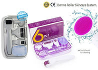 6 In1 Titanium Dr Derma Roller / Scar Facial Brush Micro Needle Therapy Skin Care Kit